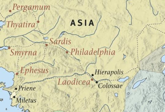 Revelation Cities Map